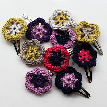 Summer Crochet Hairclip