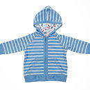 Zip Up Striped Hoody