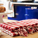 Large Gingham Table Cloth