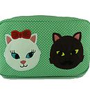 Kitty Crush Cosmetic Bag