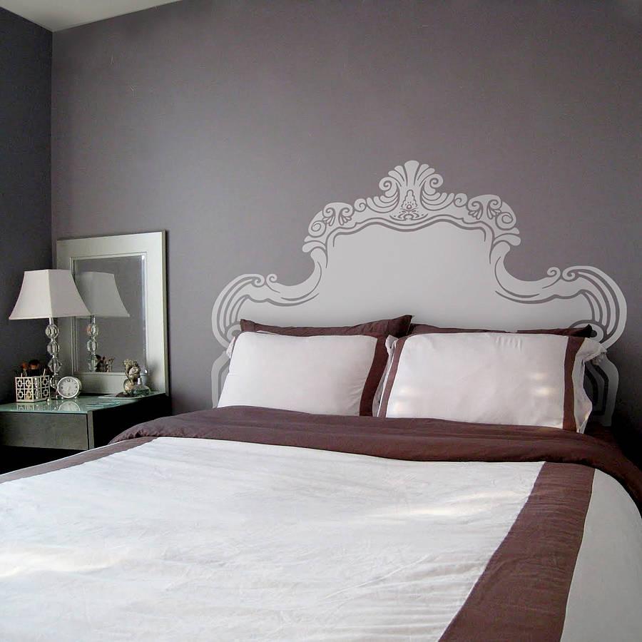 Headboard Wall System : Vintage bed headboard wall sticker by oakdene designs