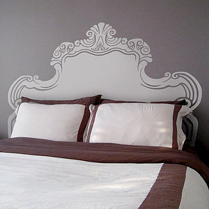 Vintage Bed Headboard Wall Sticker - bedroom