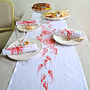 Crab Fruits De La Mer Table Runner Orange