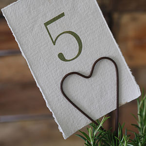 Heart Table Card Holder - christmas dining