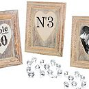 Heart Table Number Holders Photo Frame
