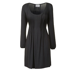 Basic Viscose Pleat Dress - dresses