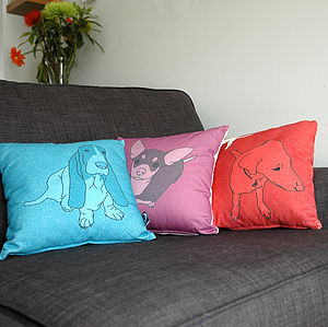Personalised Pet Portrait Cushion