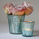 Ribbed Mercury Glass Vase Or Votive