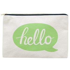 'Hello' Canvas Pouch - bags & purses