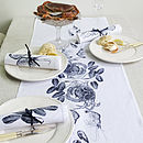 Crab Fruits De La Mer Table Runner Navy