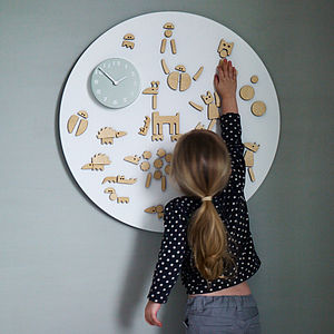 Marli Magnetic Play Clock - children's room