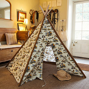 Cowboy Play Teepee - outdoor games & activities
