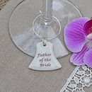 Personalised Wedding Bell Glass Charms