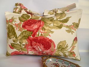 French And Floral Floribunda Cushion - cushions