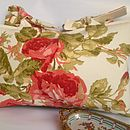 French And Floral Floribunda Cushion