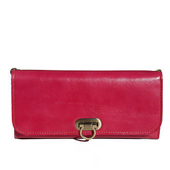 Sale 25% Off Bright Leather Clutch