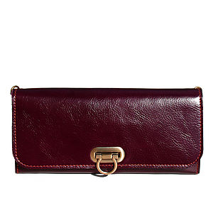 Bright Leather Clutch - clutch bags
