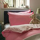 Children's Twill cotton Duvet Cover, Pink