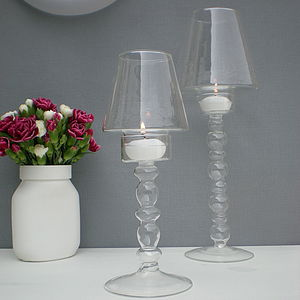 Tea Light Holder Lamp With Shade - table decorations
