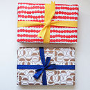 Set Of Recycled Wrapping Paper