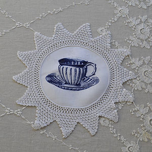 Vintage Cup Doilie - table decorations