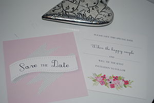 Ribbons Save The Date Cards