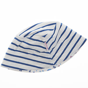 Boy's Reversible Sunhat - nautical necessities