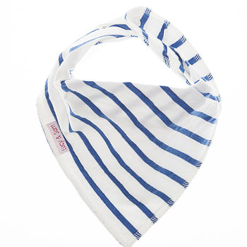 White with dark blue stripe