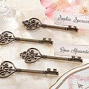 Set Of Four Vintage Style Key Card Holder