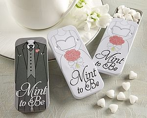 'Mint To Be' Bride And Groom Slide Mint Tins - edible favours