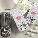 'Mint To Be' Bride And Groom Slide Mint Tins