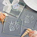 Shell And Starfish Glass Coaster Favours