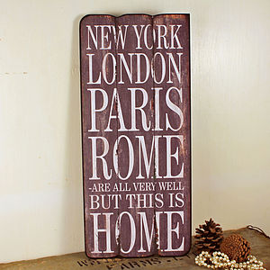 'This Is Home' Wooden Wall Sign - shop by price