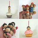 Wooden Cupcake Cake Topper
