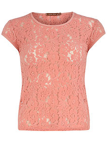 Floral Lace Top - t-shirts, tops & tunics