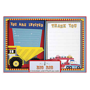 Transportation Party Invitation Set