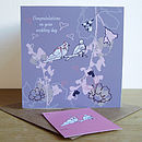 Personalised Collared Doves Wedding Card