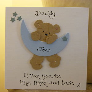 Fathers Day Personalised Moon And Stars Card