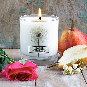 English Summer Natural Wax Scented Candle - lighting
