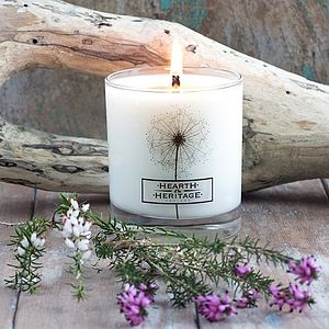 Coastal Walk Natural Wax Scented Candle - table decorations