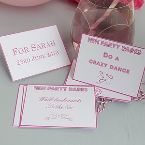 Hen Party Dare Cards - hen party