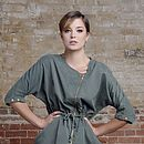 Zip Front Green Dress