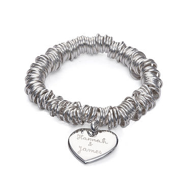 Personalised Silver Rings Bracelet
