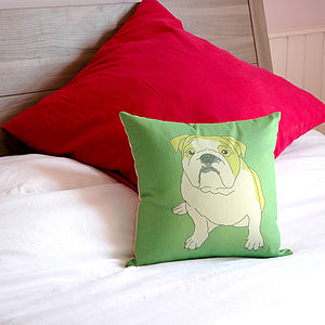 Bulldog Cushion - cushions