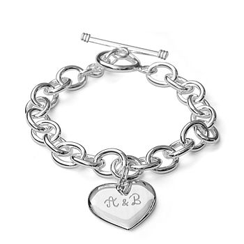 Lovers' Personalised Silver Link Bracelet