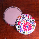Flower Pattern Pocket Mirror