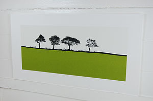 Harrogate Landscape Screen Print - posters & prints