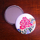 Blossoming Flower Pocket Mirror