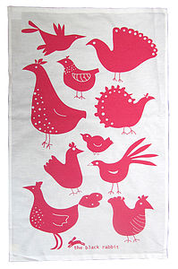 Chicken Tea Towel - kitchen linen