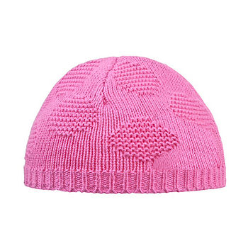 Baby Girl's Pink Spot Knitted Hat